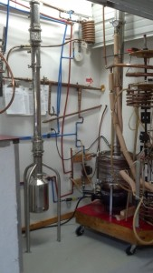 Broadbent Distillery Continuous Still processes .3gpm